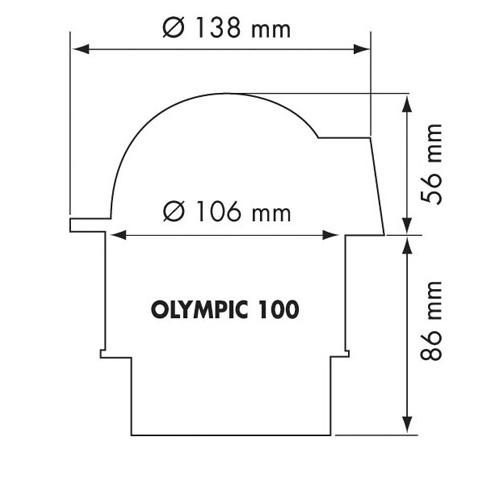 Plastimo Olympic 100 Flush Mount Compass