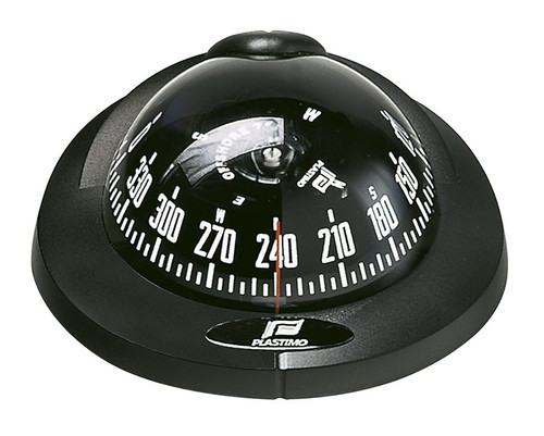 Plastimo Offshore 75 Compass Dashboard Mount - Black