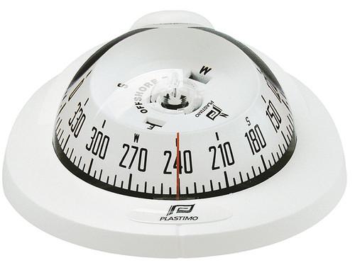 Plastimo Offshore 75 Compass Dashboard Mount - White
