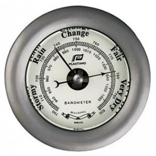 "Plastimo 3"" Barometer Sealed Chrome"