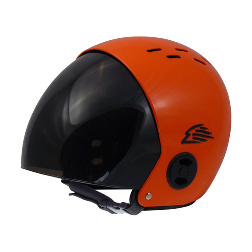 Gath RV Retractable Visor Water Sports Helmet - Orange Gloss