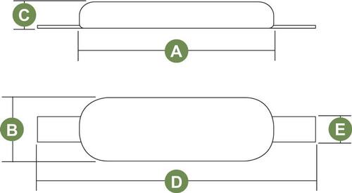 Anode - ZHS8 Zinc Oval & Strap (RWB3365/RWB3366)