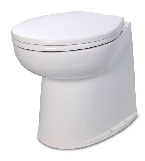 Jabsco Deluxe Silent Flush Vertical Back Electric Toilet