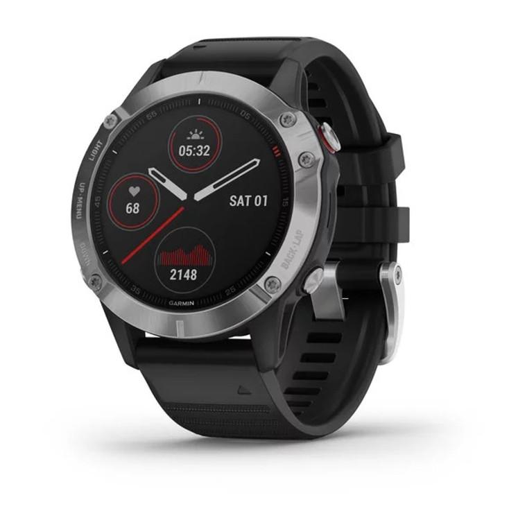 Garmin Fenix 6 Smartwatch - Silver with Black Band