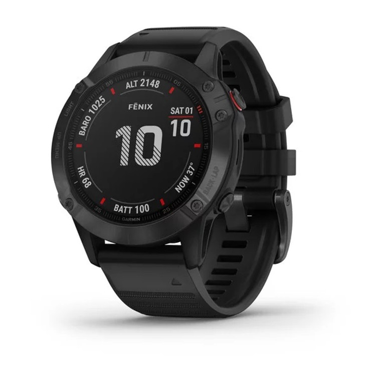 Garmin Fenix 6 Pro Smartwatch - Black with Black Band