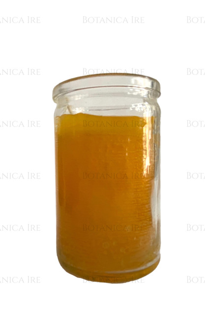 Yellow unscented candle