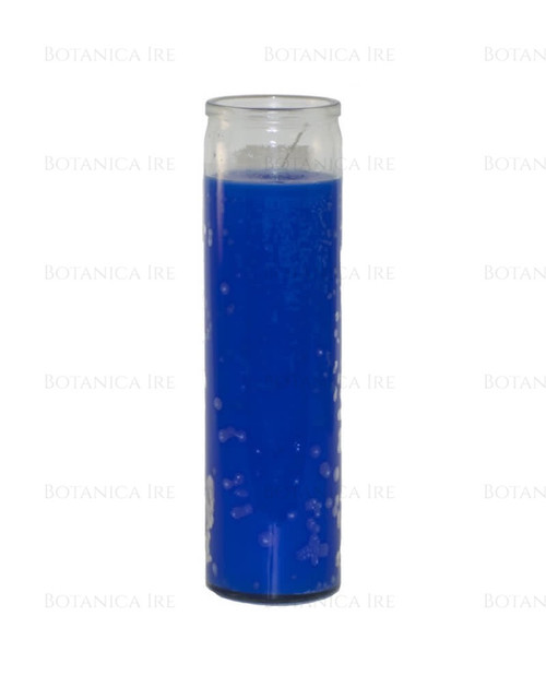 7 Day Candle | Plain Blue