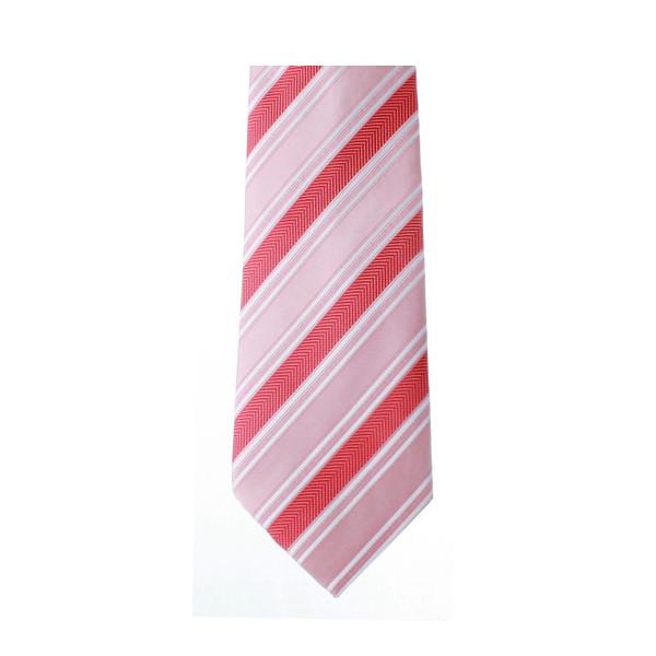 Red & Pink Stripe Necktie