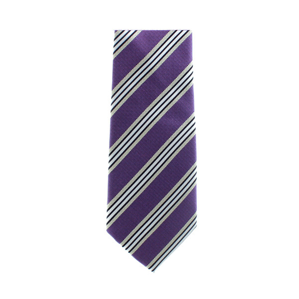 Purple Stripe Necktie