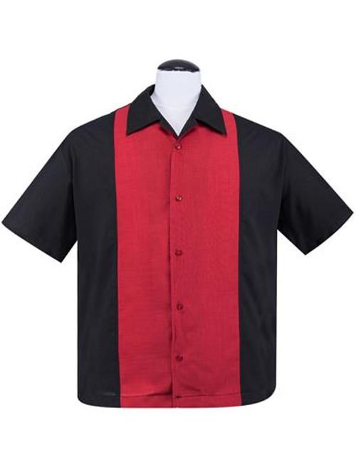 Steady Pop Check Centre Contrast - Black/Red
