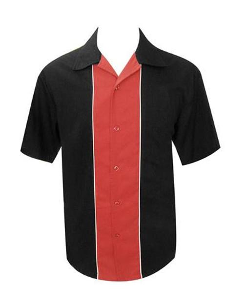 Steady Custom Piping Contrast Shirt - Black/Red