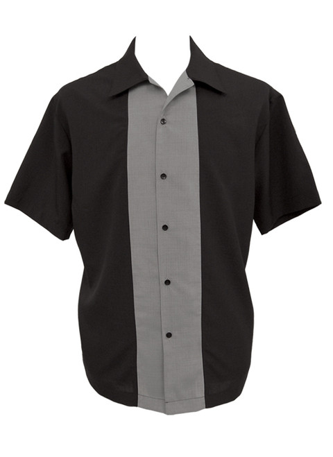 Steady Custom Poplin Shirt - Black/Grey