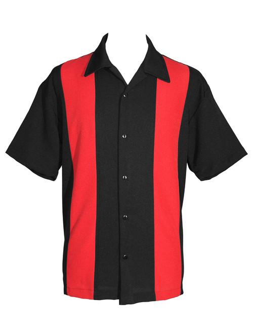 Steady Custom Poplin Shirt - Black/Red