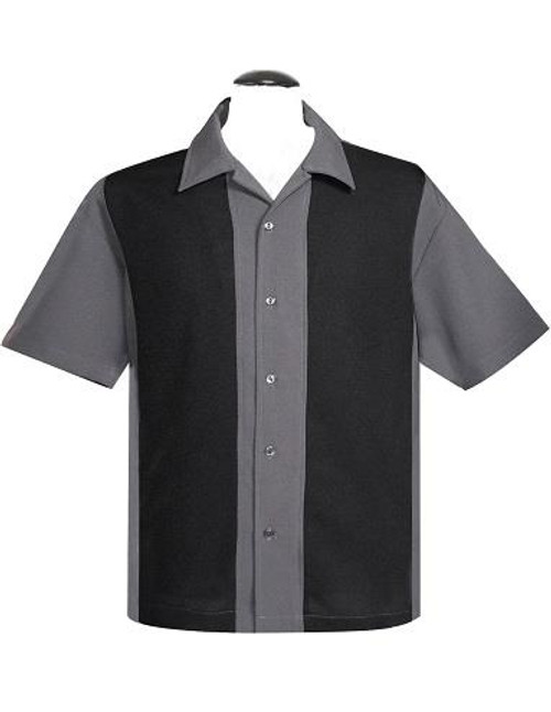 Steady Custom Poplin Mid Panel Shirt - Charcoal