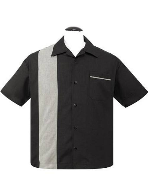 Steady Custom Poplin Shirt - Black/Sage