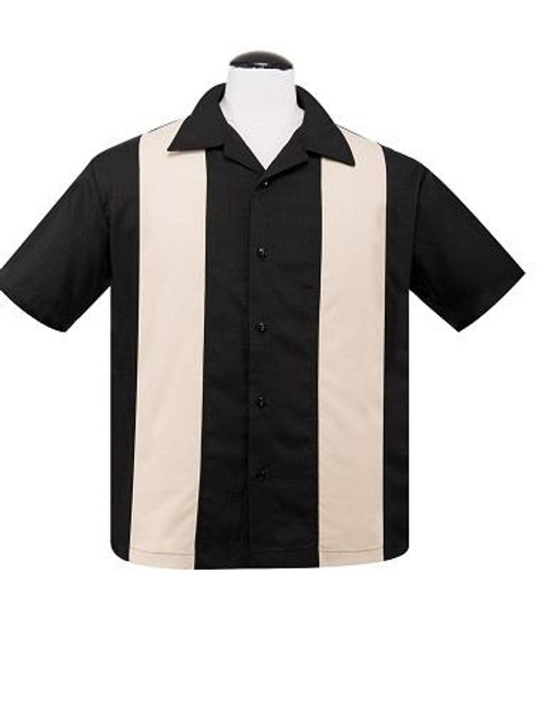 Steady Custom Poplin Shirt - Black/Stone