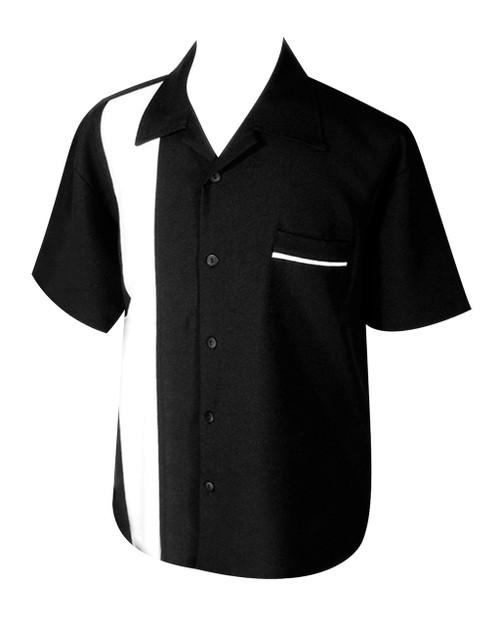 Steady Custom Poplin Shirt - Black/White
