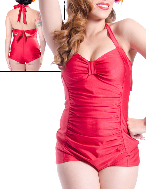 Steady Rosie One Piece Swimsuit - Red