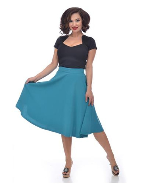 Steady High Waist Thrills Skirt - Teal