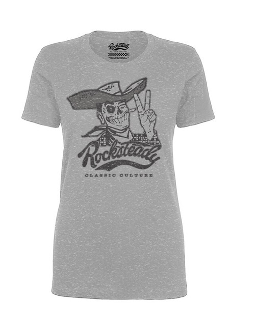 Steady Skully tee - Grey (F)