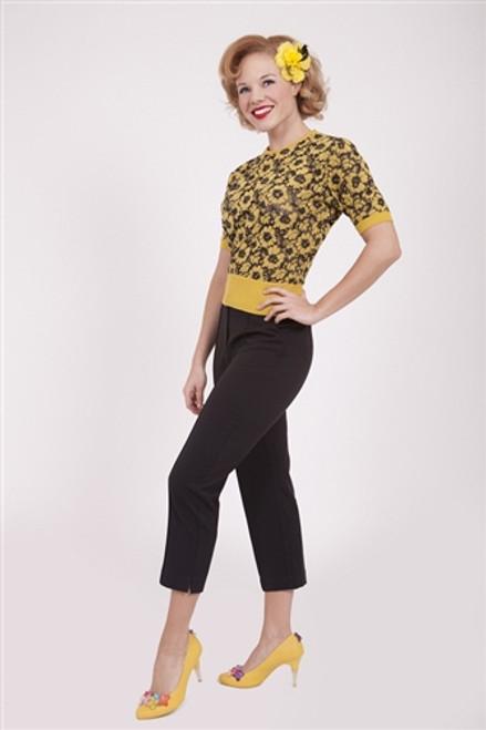 Tatyana Capri Pants High Waist - Black