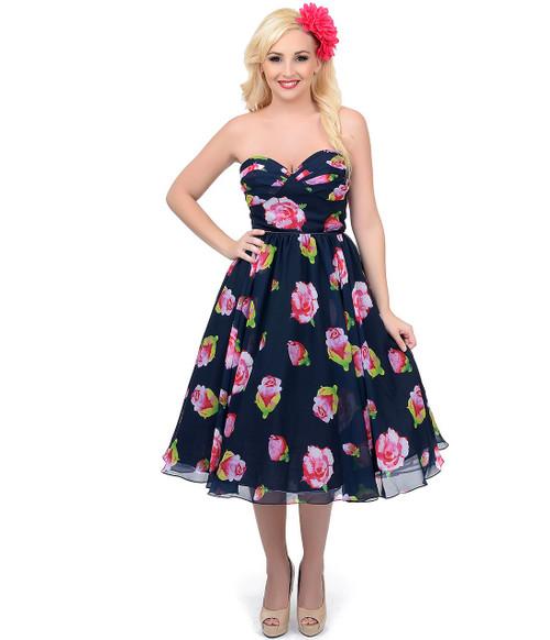 Unique Vintage Dandridge Swing Dress