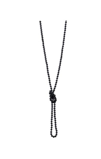 Unique Vintage 1920's Flapper Bead Necklace - Black Pearl