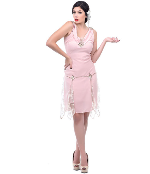 Unique Vintage Hemmingway Flapper - Blush