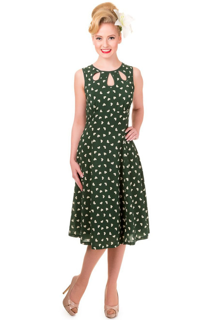 Banned Songbird Dress - Green
