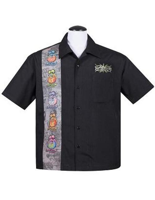 Steady Rat Fink Five Finks Shirt - Black