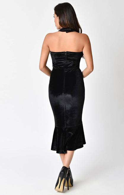 Unique Vintage NICOLETTE Black Velvet