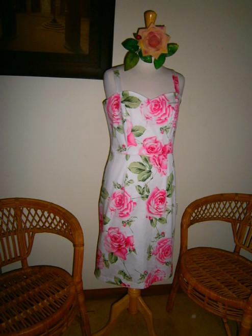 Lennys Sun Dress - White Rose