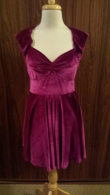 MINK PINK maroon velvet dress