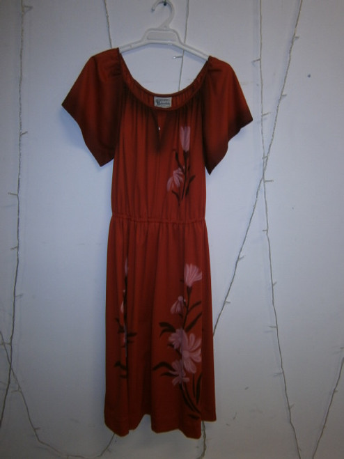 Vintage hand painted 70s dress