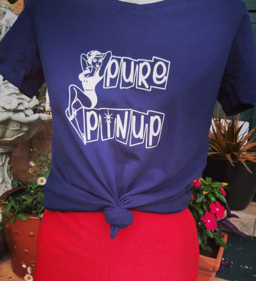 Pure Pinup logo tee - NAVY