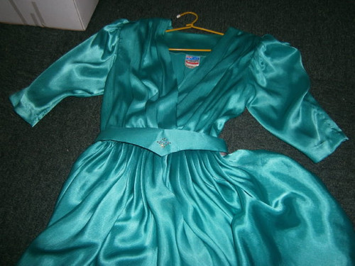 SYNDICATE 80s teal Disco Dress
