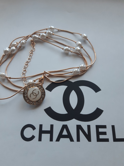 CHANEL anklet - Restyled designer drip by thestubbornco (white circle)