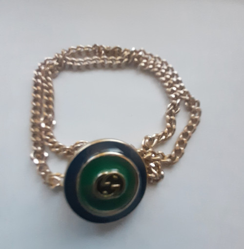 GUCCI bracelet - Restyled designer drip by thestubbornco (grn/blue)