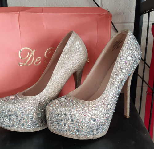 Rhinestone princess platforms