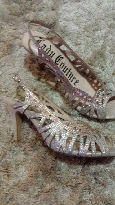 """Lady Couture"" rhinestoned kitten heel"