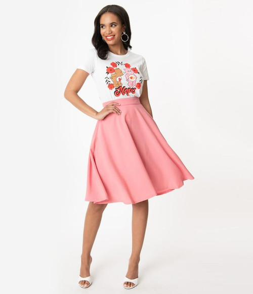 Steady High Waist Thrills Skirt - Blush