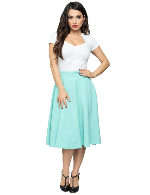 Steady High Waist Thrills Skirt - Mint