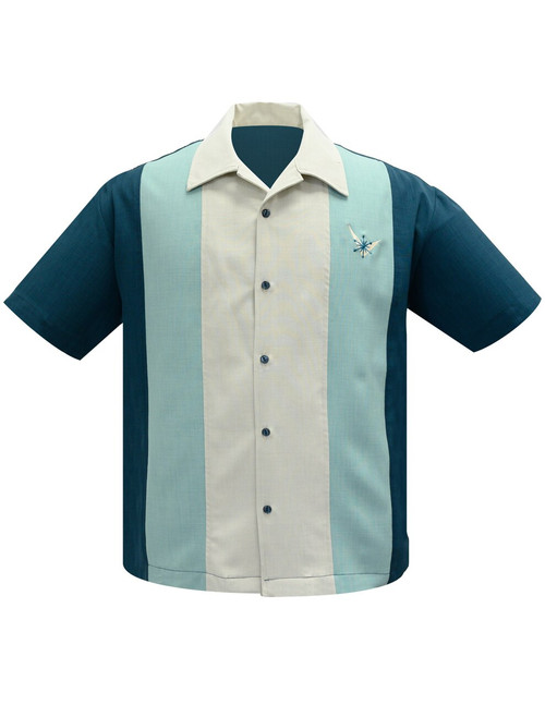 Steady Atomic Star Panel Shirt - Teal