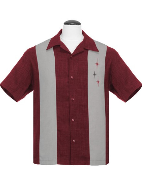 Steady 3 Star Panel Shirt - Burgundy