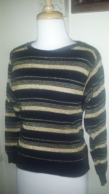 3/4 sleeve vintage woven knit top