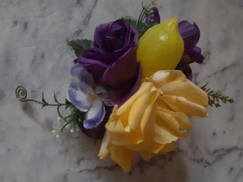 Lemon hair flower - purple