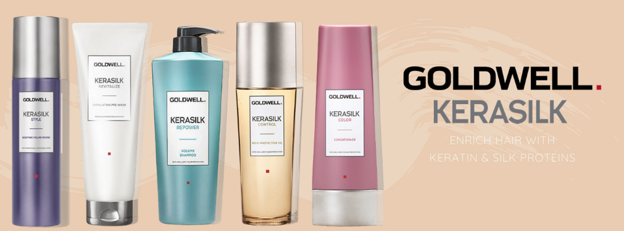 Goldwell Kerasilk - Enrich hair with Keratin & Silk Proteins
