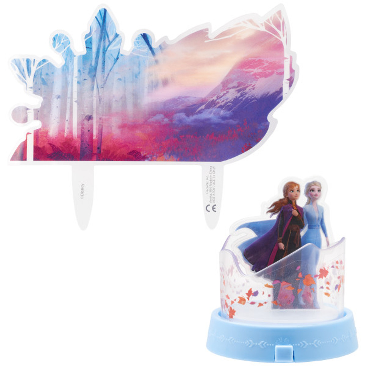Prime Frozen 2 Cake Topper 2Pc Funny Birthday Cards Online Elaedamsfinfo