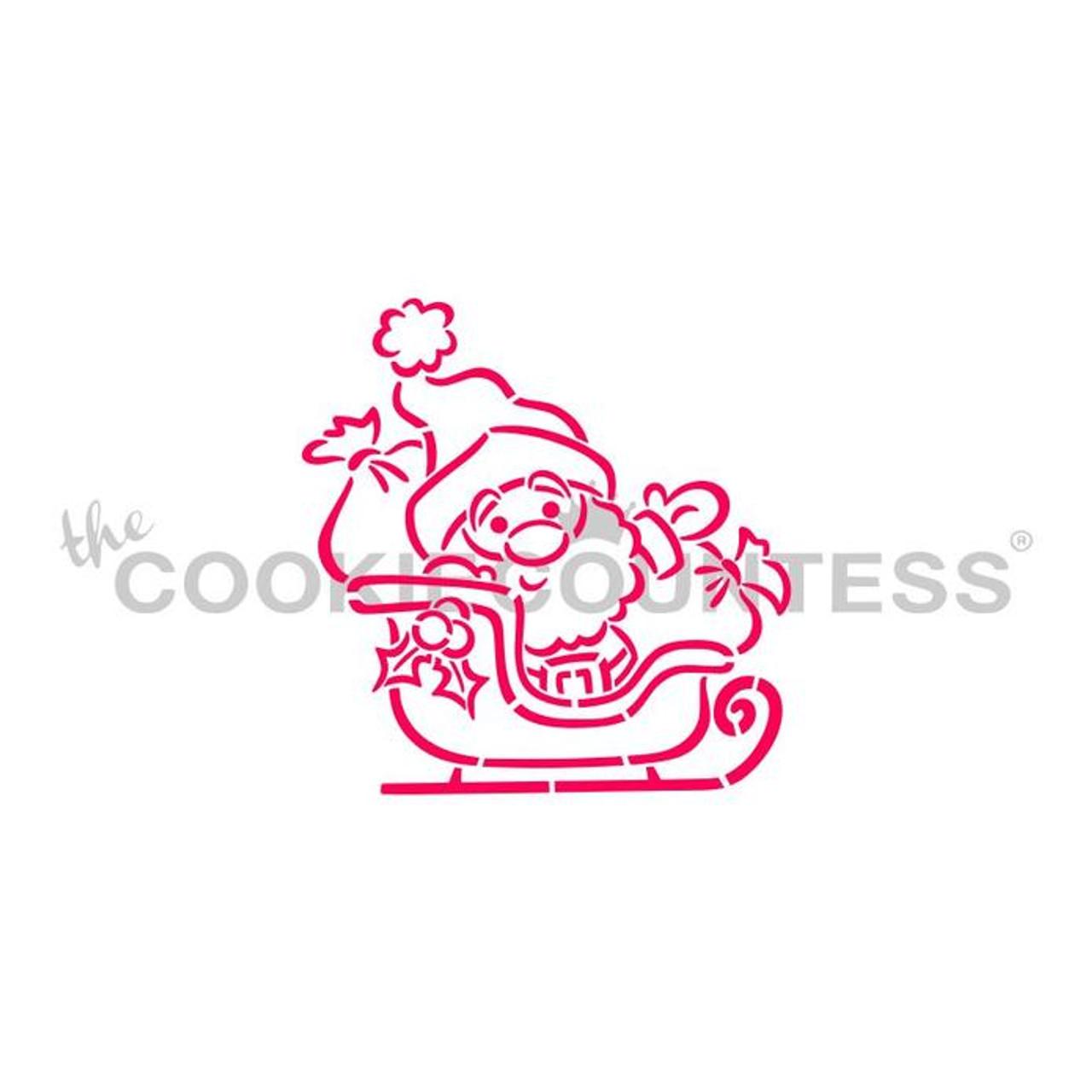 Reindeer PYO Cookie Stencil Christmas SA00115