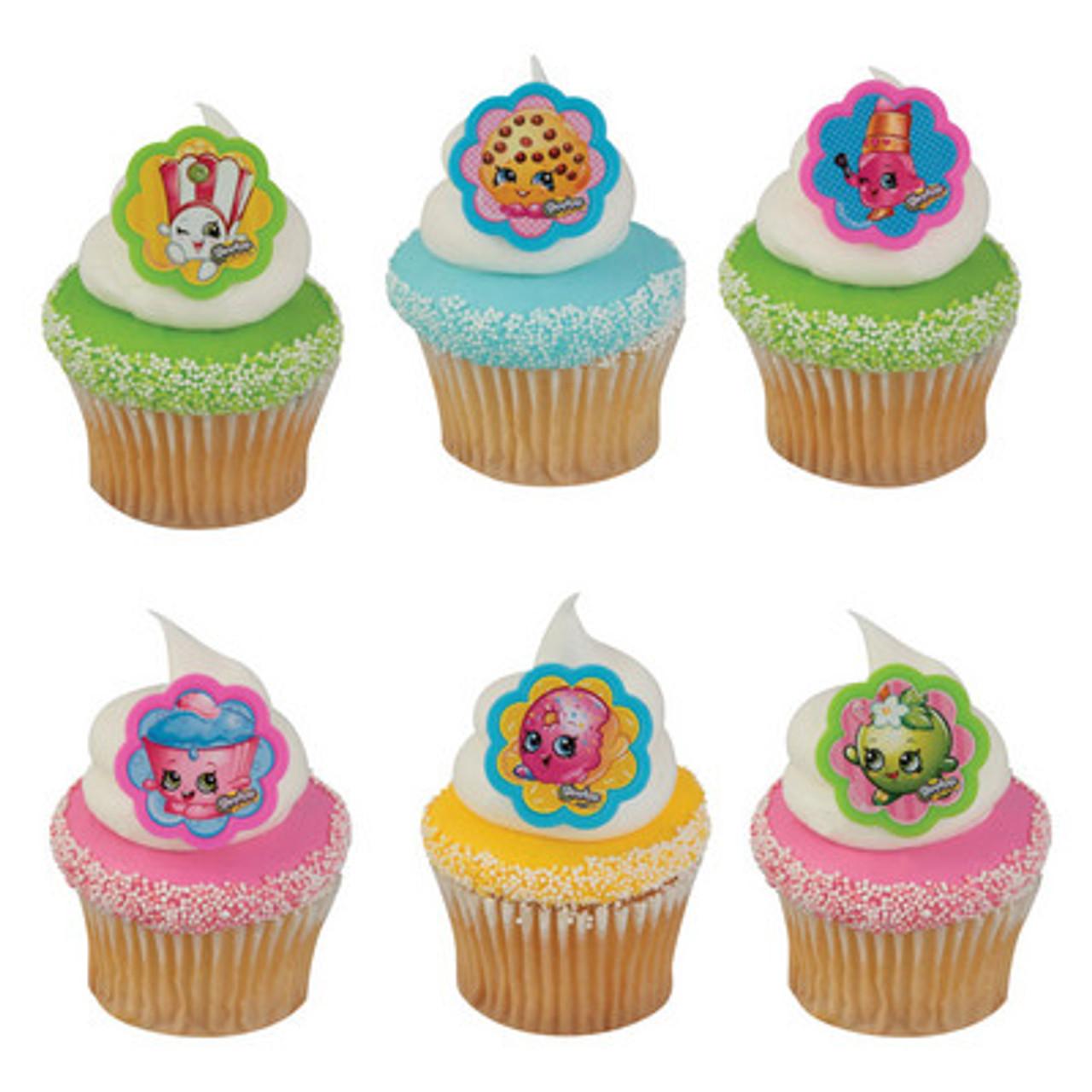 Shopkins Cake Or Cupcake Topper 6 Pc